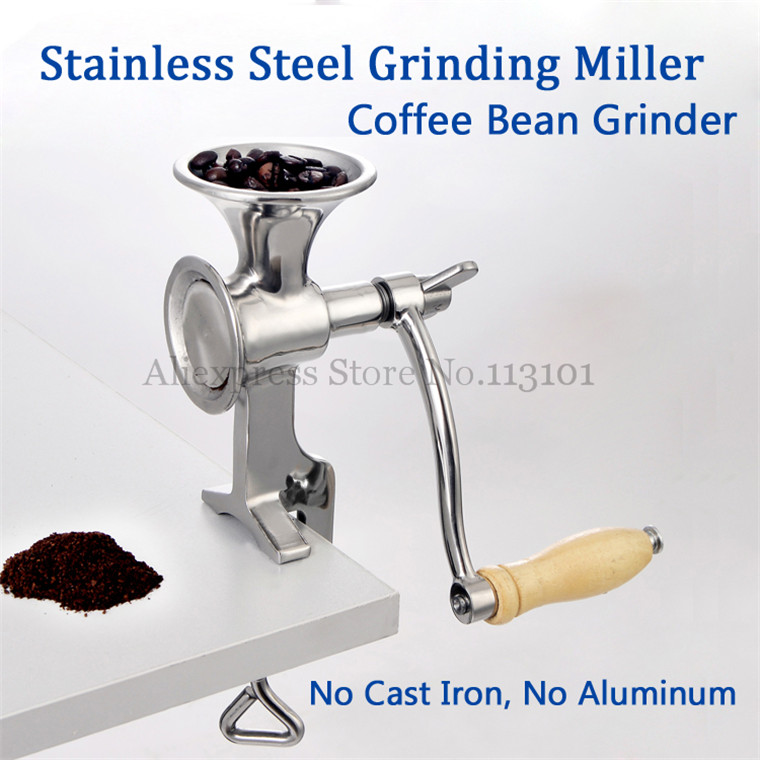 Stainless Steel Grinding Miller Manual Corn Grinding Machine Coffee Bean Flour Mill with Hand Crank new stainless steel manual coffee bean grinder hand mill set with crank handle coffee machine portable coffee burr corn mill
