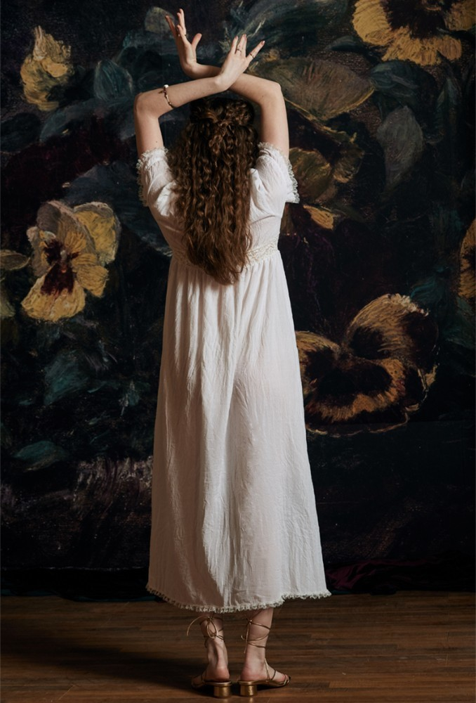 Dress Romantic White Leisure