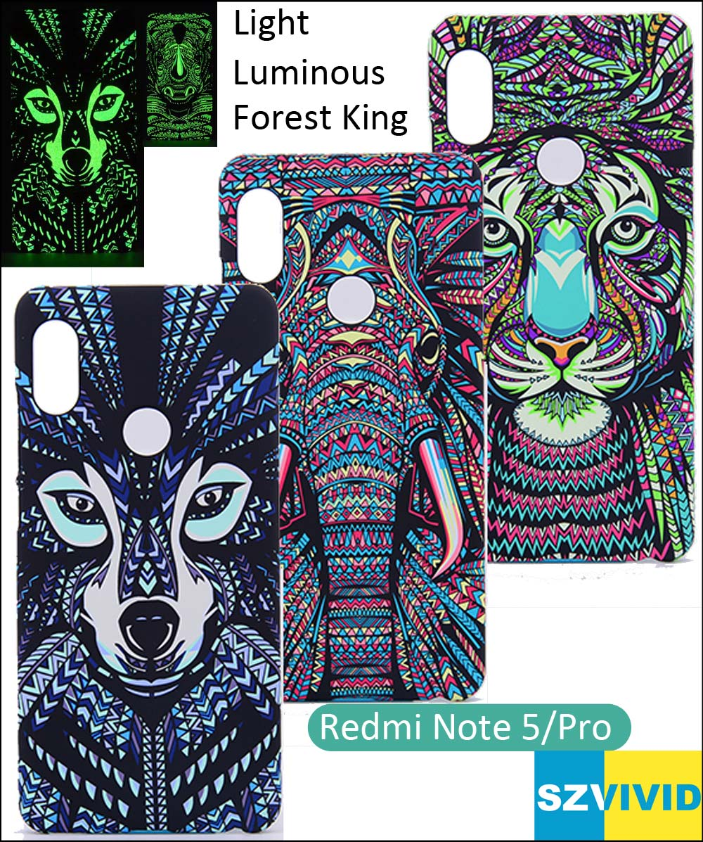 For Xiaomi Redmi Note 5 Pro Note5 Tiger Elephant Lion Wolf Case Forest King Protector Cover Shell