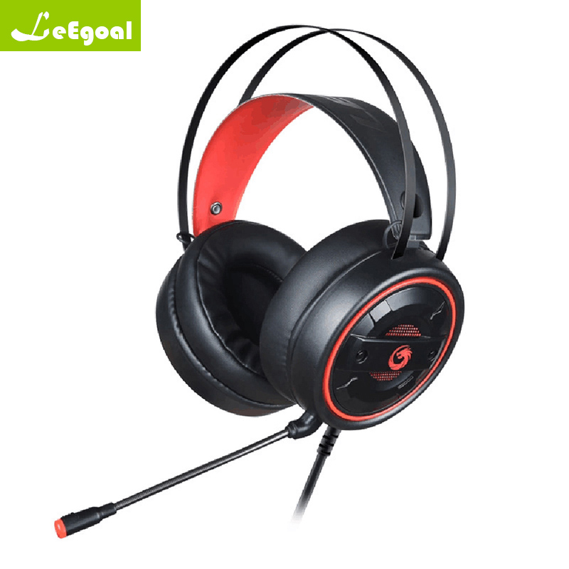 Wired Headphones with Microphone Adjustable Over Ear Gaming Headsets Earphones Low Bass Stereo for PC Video game gaming headset