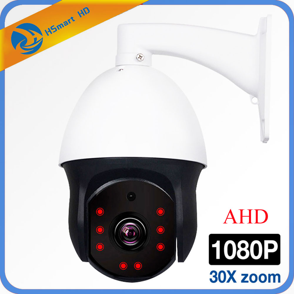 1080P AHD PTZ Camera 2MP 30X Zoom IR 60M 8LED Security CCTV AHD Dome Mini Camera