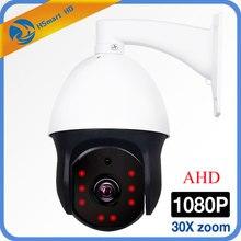 1080P AHD PTZ מצלמה 2MP 30X זום IR 60M 8LED אבטחת CCTV AHD כיפת מיני מצלמה חיצוני עמיד וידאו מצלמות מעקב