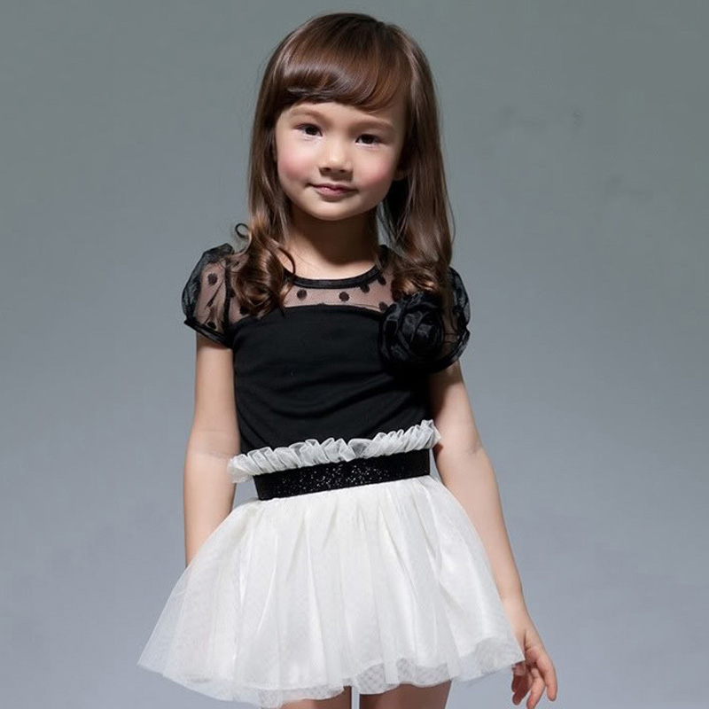 New baby kid girls princess dresses formal party tutu child lace new baby kid girls princess dresses formal party tutu child lace flower gown dress black white 2 6y ql in dresses from mother kids on aliexpress mightylinksfo