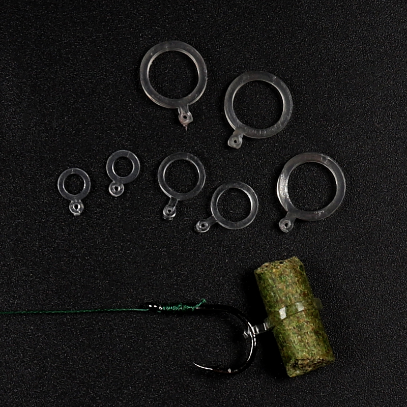 Bimoo 72Pcs Elastic Baits Bands Boilie Pellet Rubber Rings For Carp Fishing Transparent Baitbands Stretcher 5mm 7mm 10mm lifelike earthworm style fishing baits 5 pcs