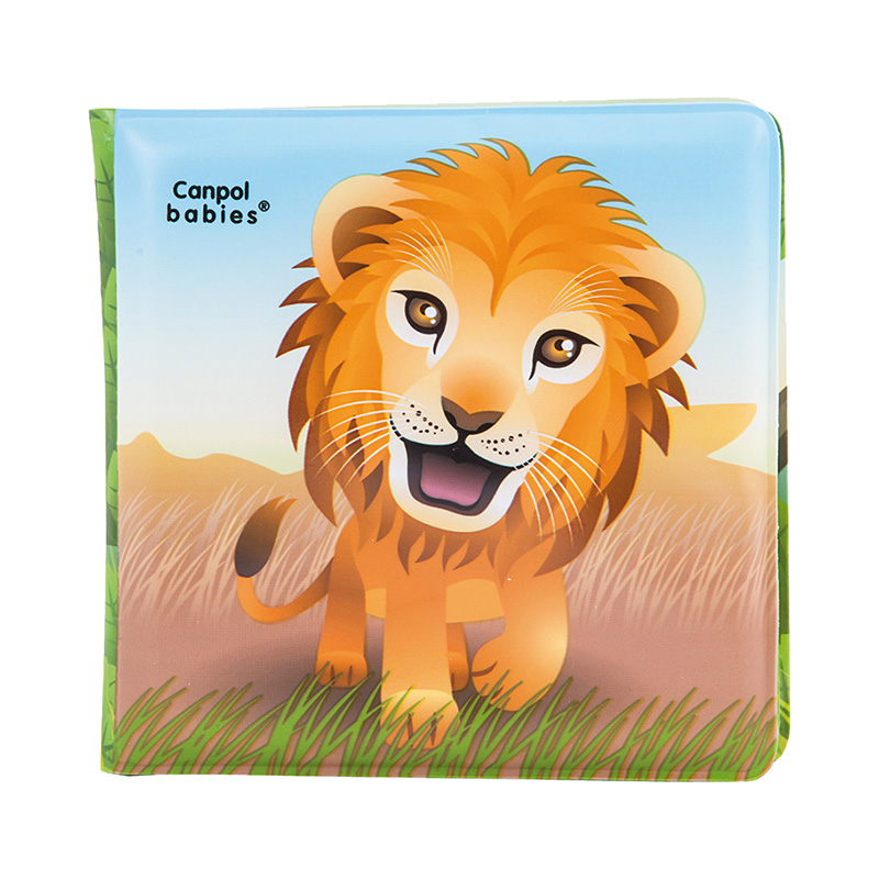 Bath Toy Canpol Babies Book with a peepal, 6+, lion