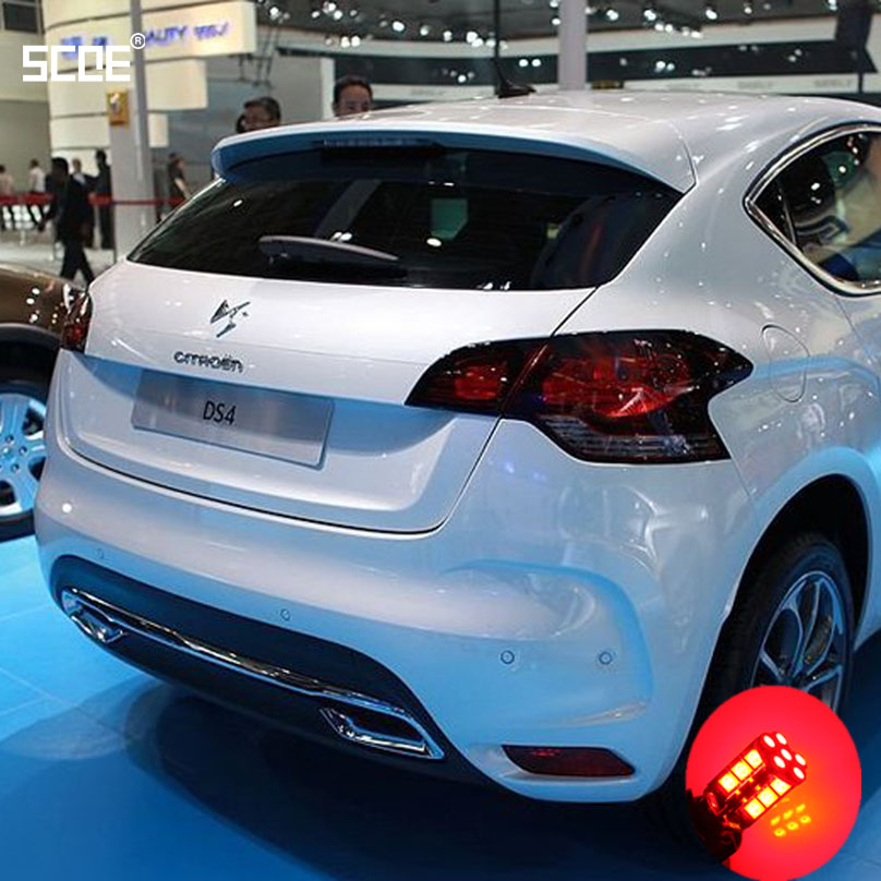 For Citroen DS4 For DS4 WithXenon SCOE 2015 New 2X 30SMD LED Brake /Stop /Parking Rear /Tail Bulb /Light Source Car Styling