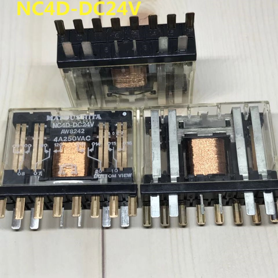 HOT NEW relay NC4D-DC24V NC4D-24VDC 24VDC DC24V 24V 4A 250VAC 14PIN