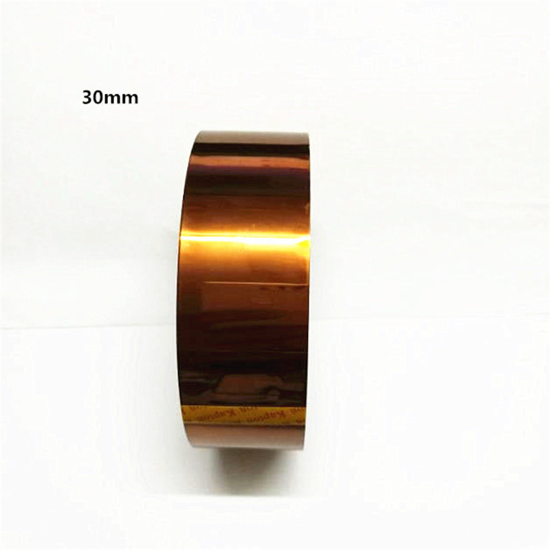 2pcs/lot 30mm*30M High Temperature Heat Resistant Tape polyimide Self Adhesive One Single Side Anti Static high temperature heat resistant polyimide adhesive tape 65mm x 30m 260 300 degree new for electronics industry