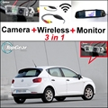 3 in1 Câmera de Visão Traseira Sem Fio + Receptor + Monitor Espelho Especial DIY Sistema De Estacionamento Para SEAT Ibiza 6J 6L SC MK3 MK4 2002 ~ 2015