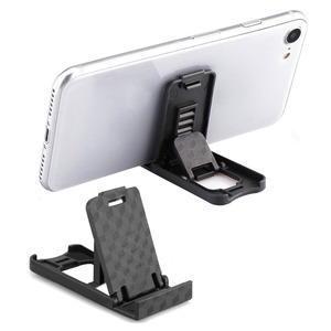 Universal Plastic Phone Holder Stand Foldable Desk Stand Holder 4 Degrees Adjustable Universal For IPhone For Xiaomi Phone(China)