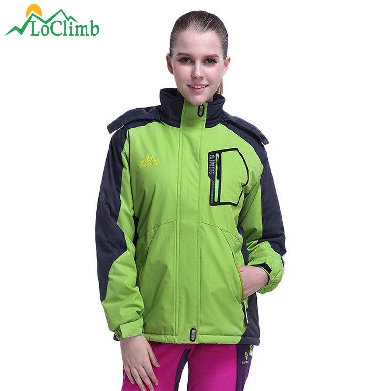 LoClimb épais polaire hiver randonnée vestes femmes imperméable coupe-vent Sport manteaux Trekking Camping Ski femmes coupe-vent, AW147