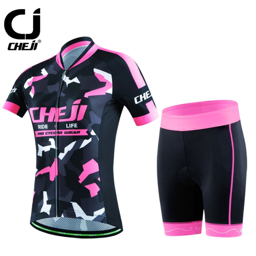Reflective Women s CHEJI font b Cycling b font Kit Ladies Road Bike font b Bicycle