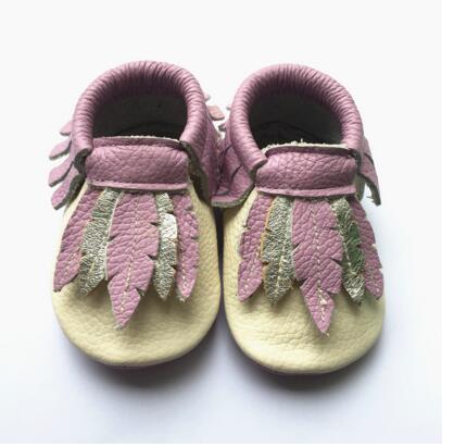 Горячие продажи листья 100% натуральная кожа детские мокасины впервые ходунки Новорожденных Мальчик в Девочке Мягкой подошвой Bebe обувь детская детская обувь