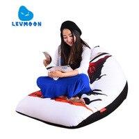 LEVMOON Beanbag Sofa Chair Super God Seat Zac Comfort Bean Bag Bed Cover Without Filler Cotton