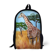 Giraffe Printing Backpack Children School Bags For Teenager Girls Backpacks Laptop Backpack star universe printing backpack bag children school bags for teenager boys girls backpacks laptop backpack