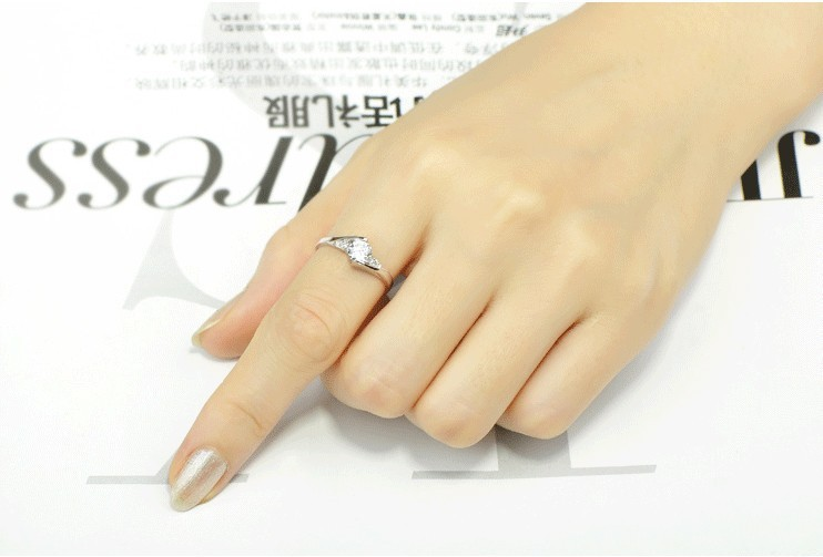 Cute Female Small Zircon Stone Ring 925 Silver Wedding Jewelry Promise Engagement Rings For Women 19 Valentine's Day Gifts 12