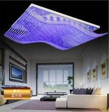 Araña de Cristal moderno LLEVADO Cambio de Color Con Estilo Órgano de Control Remoto RGB Lámpara de Techo Lustre 110,220 V Longitud 108 cm