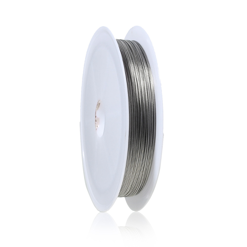 цены Doreen Box Lovely 1Roll About 50M Silver Tone Color Beading Wire tiger tail 0.3MM (B01403)