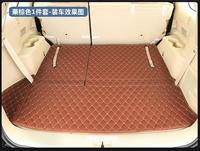 Nova marca Para TOYOTA Highlander 2015 1 PC de Alta Qualidade Almofada de Couro Tapete Mala Do Carro Tapete Tapetes Interior PU Auto acessórios|  -