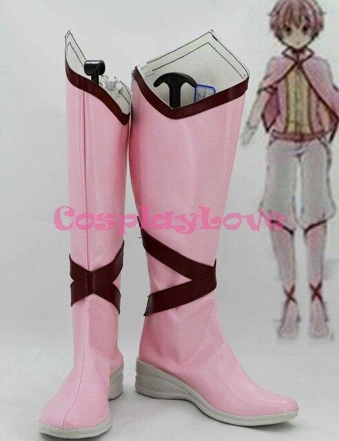 Puella Magi Madoka Magica Cosplay Shoes Boots Custom Made Pink