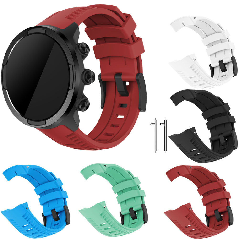 Silicone Replacement Sport Band Strap For Suunto 9 / Spartan Sport Wrist HR Baro / Sport Baro / Sport Wrist Watch Bracelet Strap