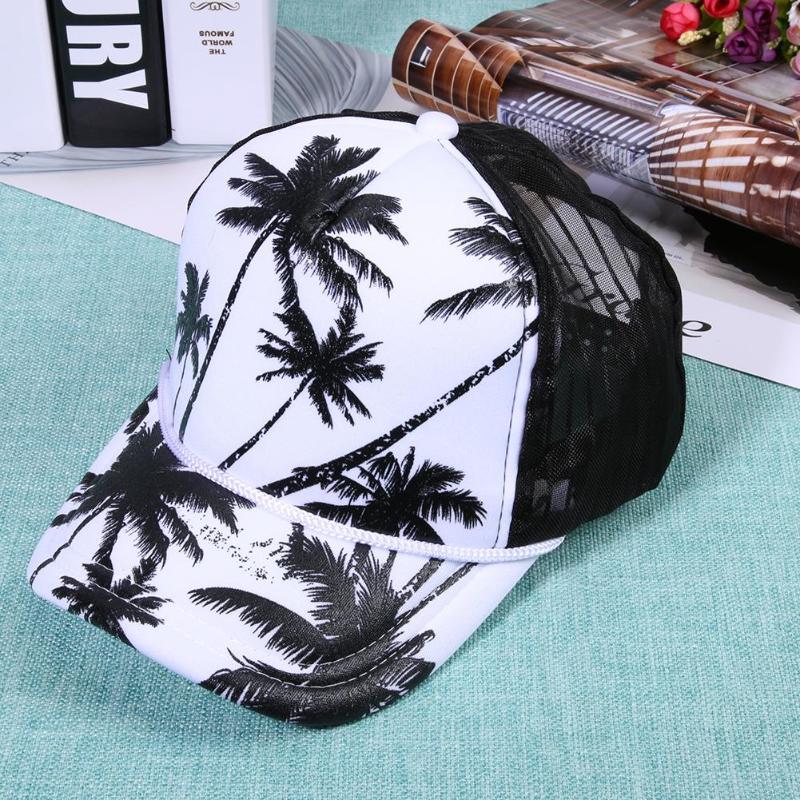 Fashion Women Men Mesh Floral Print Baseball Hats Beach Peaked Sun Caps