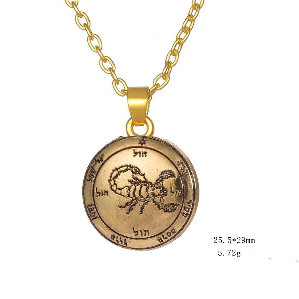 Dawapara piąty pentagram marsa klucz salomona naszyjnik Goth Jewlery Pagan