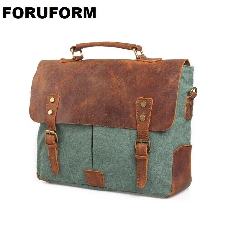 Wholesales Men Messenger Bags New Fashion Male single-shoulder Bag Retro Canvas Bags Vintage School Bag LI-225