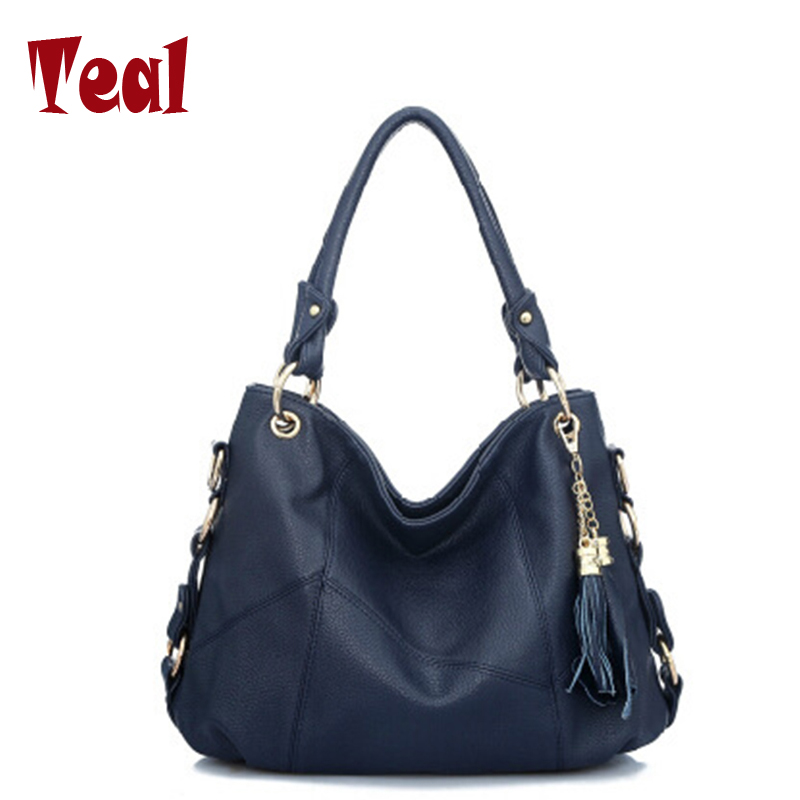 ФОТО ladies leather women's handbags designer high quality women shoulder portable Messenger bag Tassel pendant women bag
