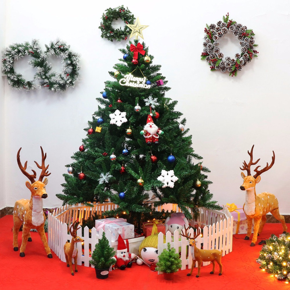 Goplus 6Ft PVC Artificial Christmas Tree Encryption
