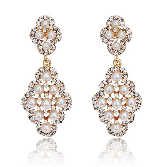 Pearl Earrings For Women Fashion Jewelry Gold Evening Wedding Bohemian Statement Boucles D