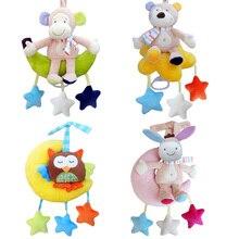 Playpen Baby Toys Rattles Kids Soft Plush Toy Animal Clip Bed Hanging Bells Clockwork Music Box for Stroller Crib Bells Toy -30