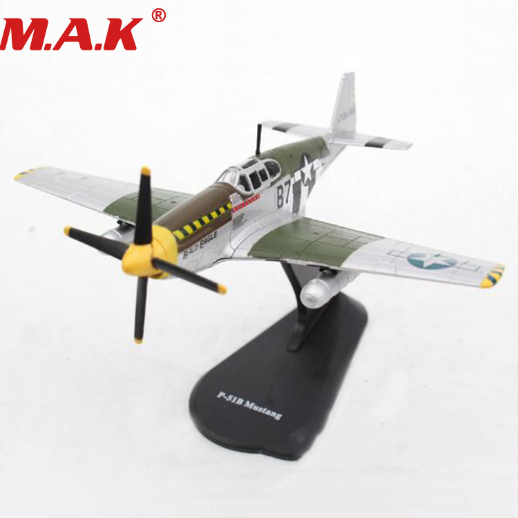 1/72 scale P-51B classic fighter plane model toys Zinc alloy airplane aircraft toys for boys gift collective collection цена