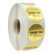 1 дюйм круглая Золотая фольга спасибо за покупку наклейки/500 этикеток в рулоне