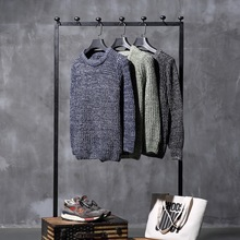 2017 Direct Selling New Arrival Sweater Men Sudaderas Male Students Set Slim Neck Thick Sweater Size Head Winter Clothes Korean
