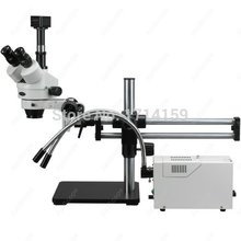 Engravers gemologists–AmScope Supplies  3.5X-180X Fiber Y-Light Ball Bearing Stereo Microscope + 1.3MP Camera