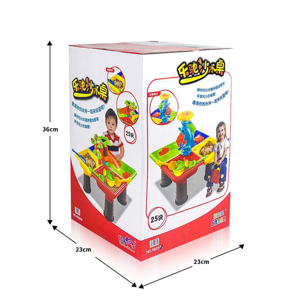 Aucun 1 Ensemble Enfants Plage De Sable De Table Jouer ensemble de jouets Bébé Sable de Dragage Outils Couleur Aléatoire