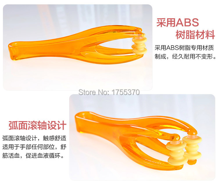 2 Rollers Elastic Handle Relax Finger Joints Hand Massager Blood Circulation Fingers Massage Tool For Lover Parents 5