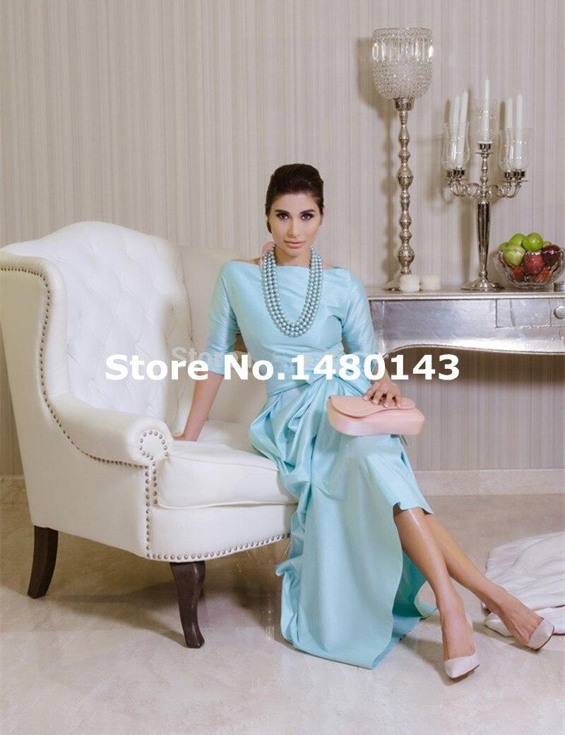 Half Sleeve Vintage Prom Dresses