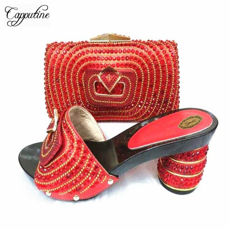75b18917 Juego Para El Fiesta verde rojo Zapatos De Elegante Nigeriano Diseño wine Y  Negro oro Partido ...