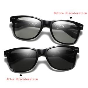 Image 3 - ZJHZQZ New Alloy Polarized Photochromic Sunglasses Mens Womens UV400 Driving Fishing Transition Chameleon Lens Sun Glasses