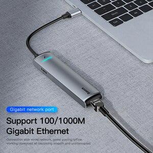 Image 4 - Baseus USB C HUB USB Multi HDMI USB 3.0 RJ45 Carder Reader OTG Adattatore USB Splitter per il MacBook Pro aria USB Dock Tipo C HUB