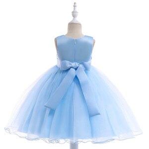Image 4 - 2020 חדש סגנון תחרה ילדה מסיבת שמלות אלגנטי אפליקציות פרח ילדה נסיכת שמלת ילדה קיץ ילדה שמלת 3 8 שנה L5029