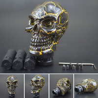 Shift Shifter Lever Knob Wicked Carved Black Skull Universal Manual Gear Stick