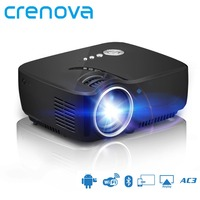 CRENOVA High Quality Mini Projector For Full HD 1080P With Wifi Bluetooth Android Projector For Home Theater Movie Proyector