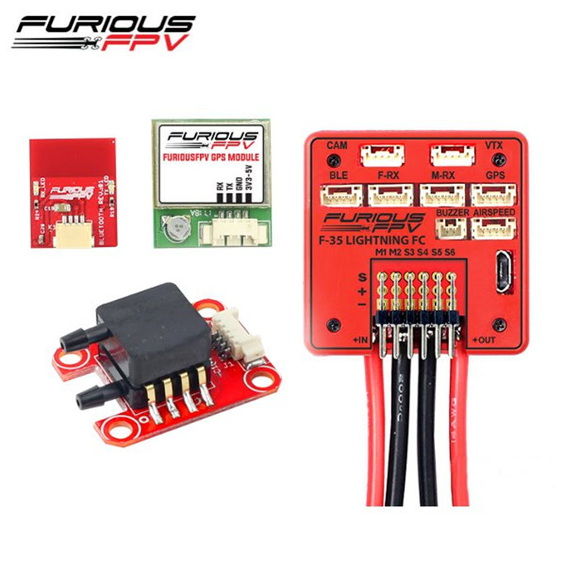 FuriousFPV F-35 Flight Controller + AirSpeed Sensor + GPS Module + Bluetooth Module Combo For RC Models Multicopter