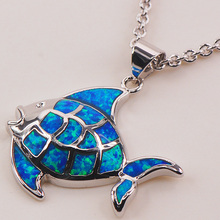 Blue Fire Opal 925 Sterling Silver Fashion Jewelry Pendant P114