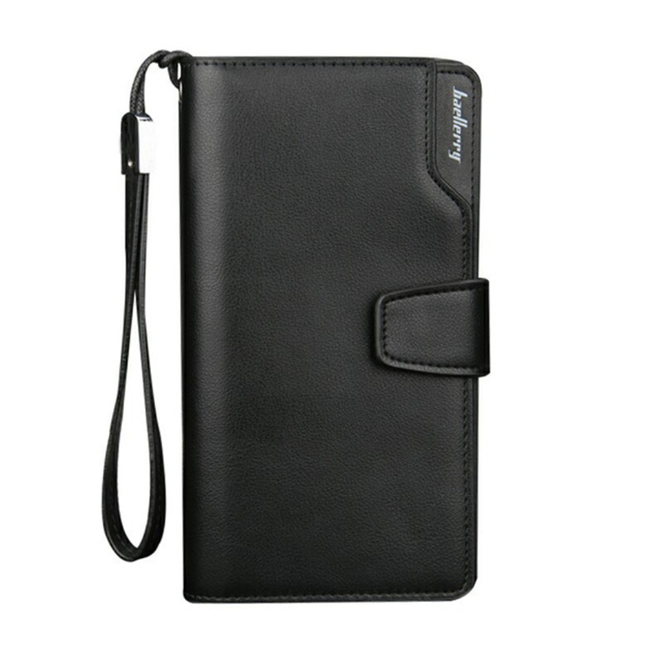 Baellerry Card holder Men Wallets PU Long Design Quality Passport Cover Fashion Casual Male Purse Zipper Quality Coin Purse baellerry pu leather men wallets zipper coin pocket sample solid male purse card holder high quality man purse cartera