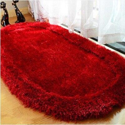 70140cm bright silk oval carpet 3d cozy shag collection solid shag rug living u0026 bedroom soft shaggy area rug - Shag Carpet