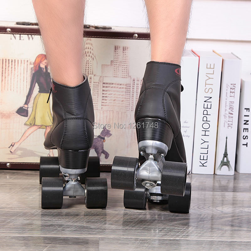 Renee Patins à roulettes Chaussures Double Ligne Patins Adulte Femelle F1 Racing 4 Roues Patins - 4
